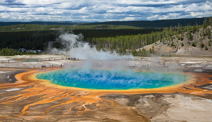 Grand Prismatic Spring at Yellowstone's Midway Geyser Basin